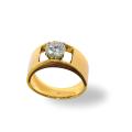 Anello fascia oro giallo con brillante ct. 1,02