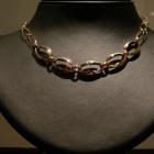 Collier ovali e catena-oro rosa 2 fili di catena dietro