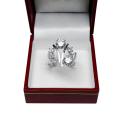 Contrariè-anello oro bianco con brillanti princess