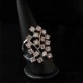 Stelle-anello oro bianco con brillanti