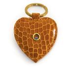 Portachiavi-in-coccodrillo-arancio-con-gioiello