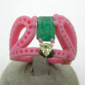 Progetto-Maura-smeraldo-del-cliente-per-anello-02